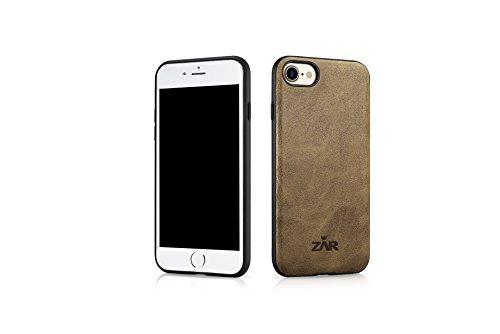 Zar Funda de piel para iPhone 7 y iPhone 8, color caqui