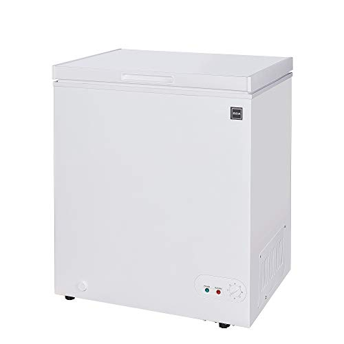 RCA RFRF450-AMZ, 5.1 Cubic Foot Chest, Deep Freezer Cold Storage for Food, White