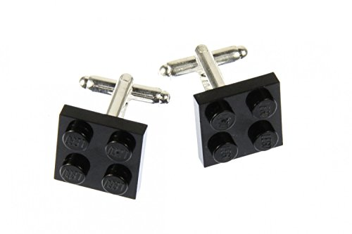 Miniblings Lego Manschettenknöpfe Knöpfe + Box quadratisch Legostein Legosteine