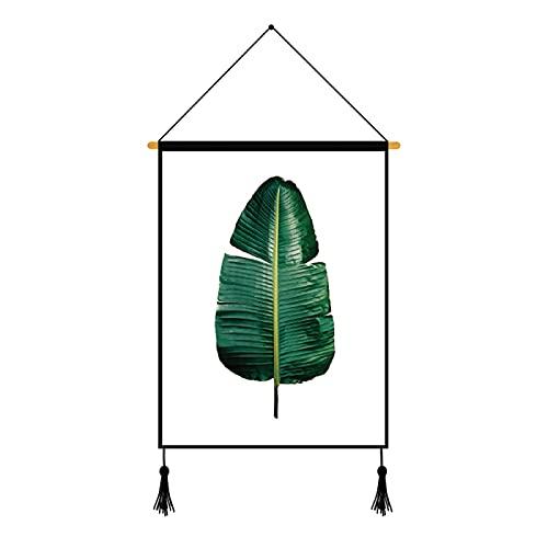 CACAIMAO Pintura De La Pared del Patrón De Impresión De La Planta Verde, Pintura De La Decoración De La Oficina del Dormitorio De La Sala De Estar, Pintura Colgante con Cuerda Y Clavos 1Pcs