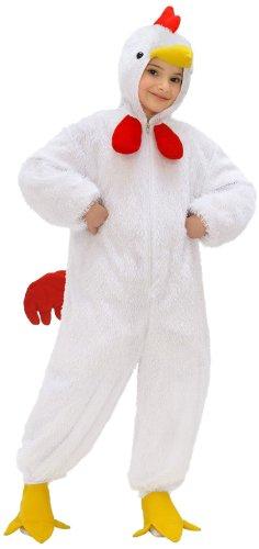 Widmann kinderkostuum kip, overall met masker 134 134 cm wit