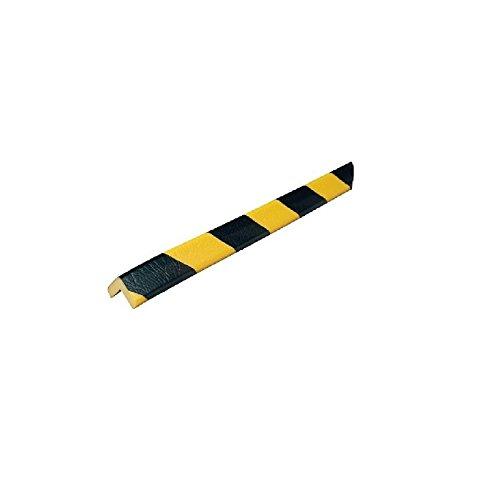 Eckschutzprofil Schutzprofil Kantenschutz Stoßschutz Knuffi Typ H gelb schwarz 1 Meter, Größe:1.00 m