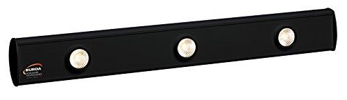 TERM 2000 Lichtsysteme 1- bis 4- strahlige Lichtleisten in Schwarz (3 x 50W Leuchten)