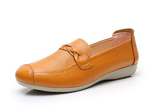 VenusCelia Damen Braid Dance Flache Schuhe, Gelb (gelb), 37 EU thumbnail
