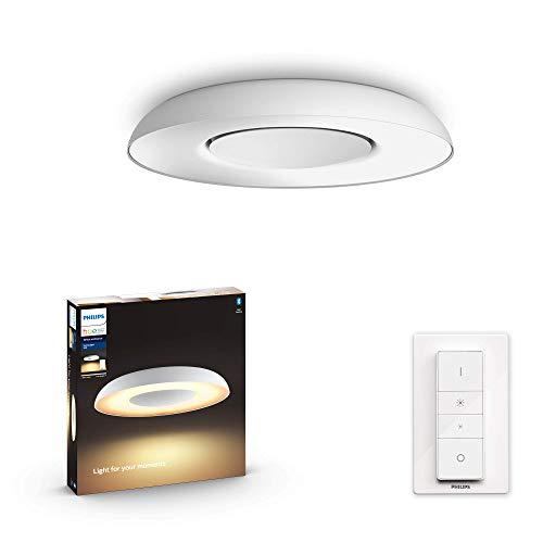Philips Hue – Lámpara inteligente, Hue Still, Plafón LED Inteligente, Luz Blanca de Cálida a Fría, Compatible con Alexa y Google Home, Color Blanco