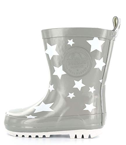 ShoesMe RB7A092-E KIDS' WELLIES 26 Silver star
