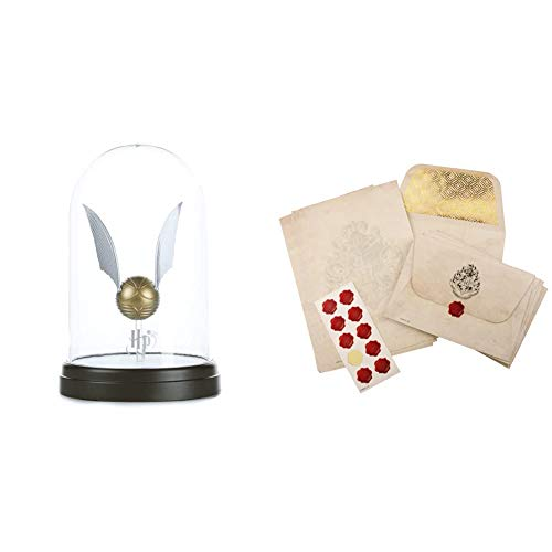 Harry Potter Lampada Boccino 2.5 W, Oro, Standard & Potter (Produttore Paladone) PP4234HP Set di cancelleria di Hogwarts