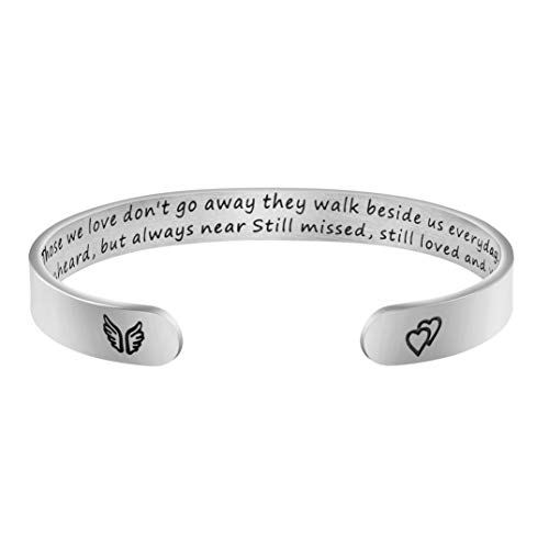 Joycuff Memorial Gift for Her Best Friend Sister Wife Sympathy Jewelry Bereavement Bracelet Loss of Mom Dad Loved One