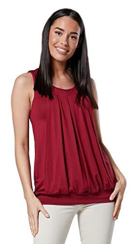 "HAPPY MAMA. Damen Umstandsmoden Top Still T-Shirt Lagendesign Ã""rmellos. 096p (Purpur, 38-40, M)"