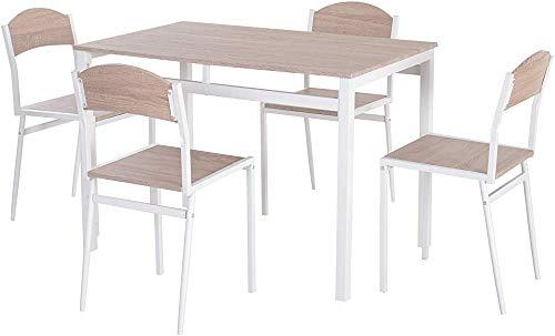 MDF y metal mesa de comedor y cuatro sillas mesas de café,A