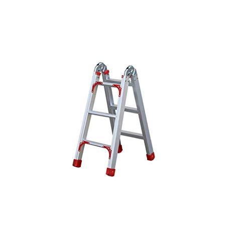 Multifunktionstechnik Gerade Stehleitern, Double Side Ladder Drei Stufenleiter Dachgeschoss Vier Stufenleiter / Dedicated Leiter for Lager stabil (Größe: 45 * 83 * 118cm) ( Size : 43*70*95cm )