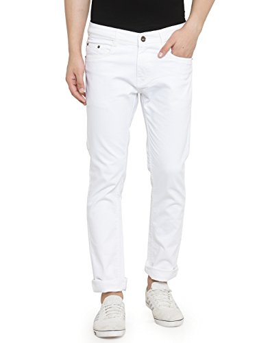 Ben Martin Men's Regular Fit Jeans (BMW-JNS-.WHITEnew_32a_White_32)