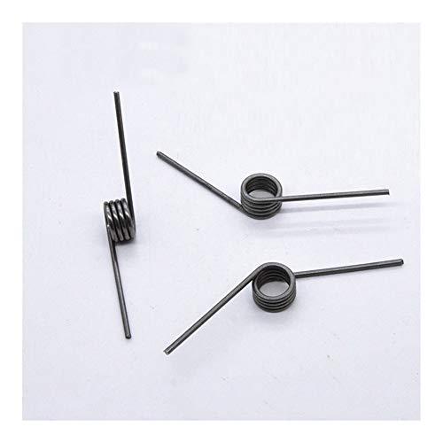 XjS Druckfedern Torsion Federstahl High Strength V-förmigen Drahtdurchmesser 2,0 mm Außendurchmesser 14,7 mm Winkellänge 40 mm Schenkelfedern Edelstahl (Length : 20pcs)