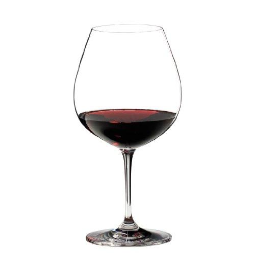 RIEDEL 6416/07 Vinum Pinot Noir (Burg&y Red), 2-teiliges Rotweinglas Set, Kristallglas