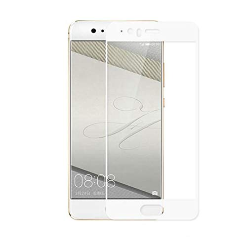 Movilrey Protector para Huawei P10 Blanco Completo 3D Cristal Templado de Pantalla...