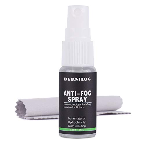 Anti-Fog Spray for Glasses + Cloth (15ml) | Fog Block | Work on Eyeglass,Mask, Sports Goggles, Swim Goggles, Bathroom Mirror, Humid Environment, Alcohol-Free| Durable Anti-Fog