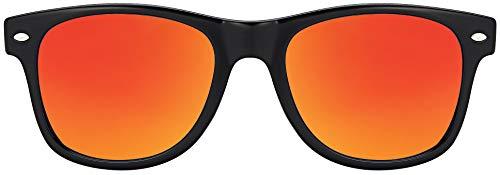 MOKIES Unisex Sonnenbrillen - UV400 Filterkategorie 3 CE Kennzeichnung - Wayfarer Design - Polycarbonat - mit Federscharnier - 102 Rot