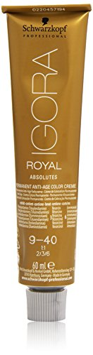 Schwarzkopf IGORA Royal Absolutes Permanent Anti-Age Color Creme 9-40 extra hellblond beige, 1er Pack (1 x 60 ml)