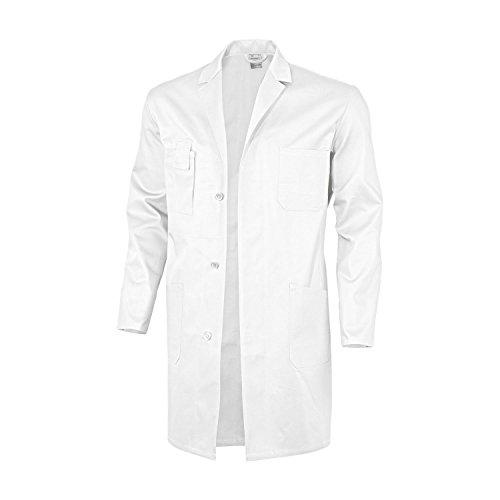Qualitex Basic Arbeitskittel, 100 % Baumwolle, 240 g/m², Weiß, Größe 44 50 Weiss