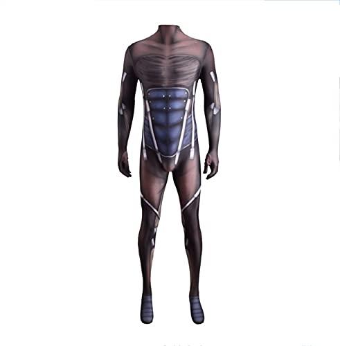 LEDLFIE Unisex Adultos Nios Super Hero Lycra Spandex Body Halloween Cosplay Cosplay, Raiden Metal Gear Solid Raiden MGS Papel Jugando Etapa Traje (Color : Adult Male, Size : XXL)