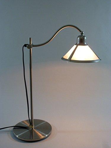 Tischleuchte Norden 1 flammig Tischlampe nickel Nachtischlampe Schreibtischlampe