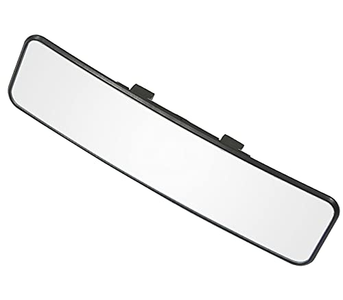 """KITBEST Rear View Mirror, 11.4 Inch Panoramic interior Clip On Rearview Mirror, Wide Angle Car Mirror for Cars, SUV, Trucks (11.4"""" L x 2.9"""" H)"""