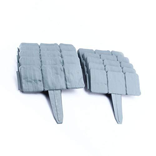 10Stück Dark Grau gepflasterten Stein Effekt Garden Rasenkante Pflanze Bordüre–einfach Hammer in