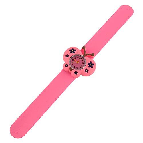 Rosepoem Modello di farfalla per orologio da polso pieghevole per bambini in gel di silicone per bambini