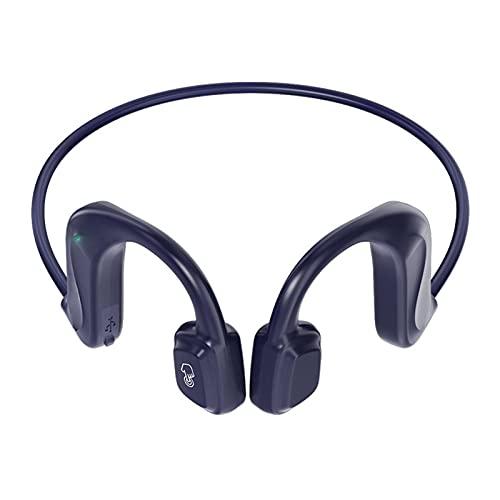 SOONHUA - Auriculares inalámbricos con conducción ósea, inalámbricos al aire libre, auriculares Bluetooth 5 con micrófono para correr o bicicleta