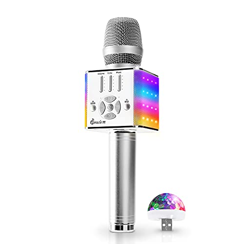 M90 - Karaoke Microphone, Bluetooth Microphone Wireless, with LED Lights, Portable Handheld MIC & Speaker, Karaoke Microphone for Adults, Kids - Karaoke MIC