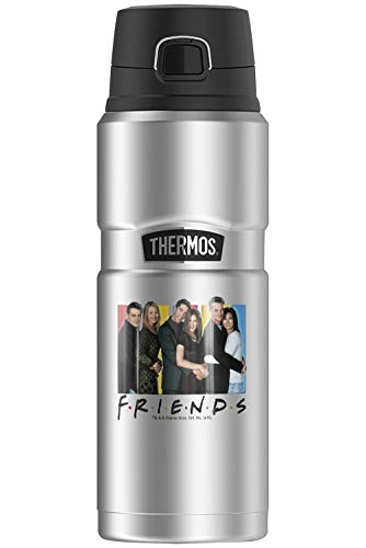 Friends It 's All About Friends, Thermo King botella de acero inoxidable con aislamiento al vacío y doble pared, 24oz