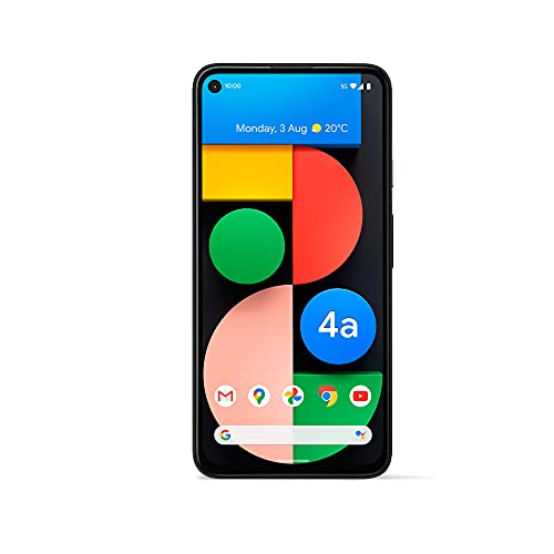 Google Pixel 4a 5G Android Handy - 128GB Just Black, SIM Free, Adaptive Battery - 3