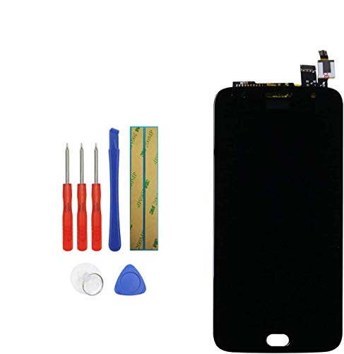 Upplus, display LCD di ricambio compatibile per Motorola Moto G5S Plus XT1803 XT1805 XT1804 XT1806 XT1802, display LCD Touch Screen Digitizer Assembly con kit di attrezzi (nero)