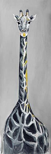 Why Choose BEGIN DECO MAISON - HOME DECOR 2080-1648-AN228-1 Steel Blue Giraffe, Fine Art Gallery Wra...