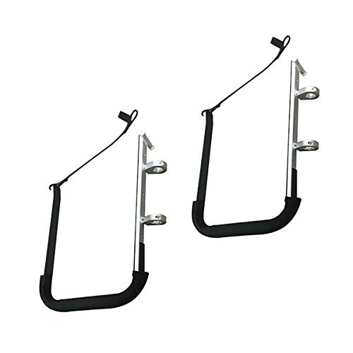"""Krypt Towers SUP Rail Mounted Storage Rack for Boats, Fits Handrails, Stanchions, and Crossbars on Sailboats/Yachts, Clamp 7/8"""", 1"""", 1 1/4"""""""