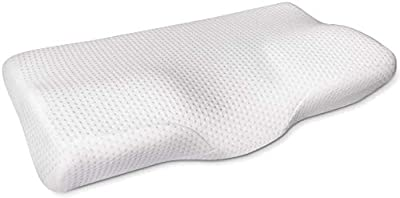 Cr Sleep Memory Foam Contour Pillow for Neck Pain with Gel-infused Technology