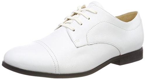 Jil Sander Iconic, Derbys Femme, Blanc (Bianco 101), 39 EU