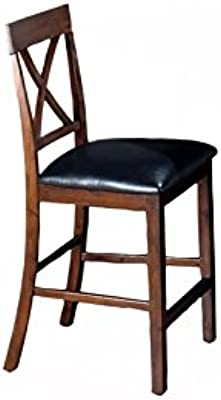 Jofran 439 Series X Back Faux Leather Counter Height Stool (Set of 2)