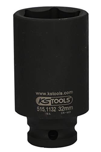 "KS Tools 515.1132 1/2"" Sechskant-Kraft-Stecknuss, lang, 32mm"