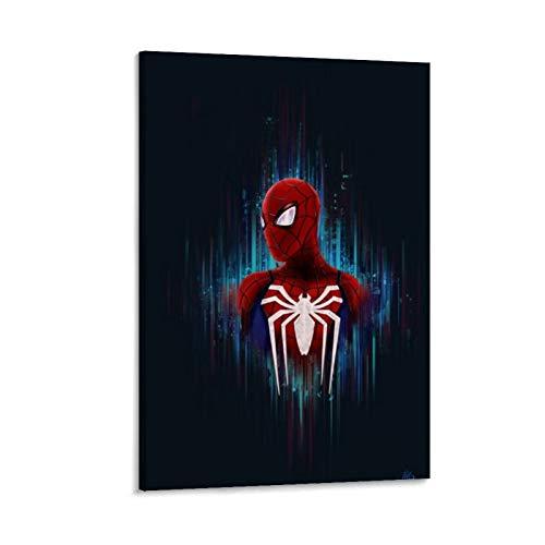 Ghychk Pintura artística de Spider-Man con diseño de cómics de superhéroe, para dormitorio, cocina, decoración del hogar, lista para colgar, 20 x 30 cm