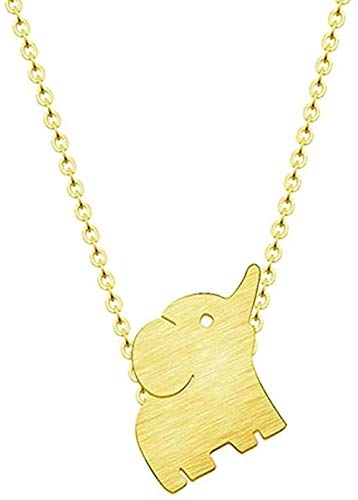 WYDSFWL Collar Amoroso Madre y bebé Elefante Collar Cadena Gargantilla Mujeres Collares joyería Collar Regalos