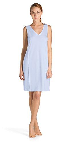 Hanro Pure Essence/Nachthemd o.Arm 95 cm Chemise de Nuit, Bleu (Blue Glow 0511), 50 (Taille Fabricant: XL) Femme