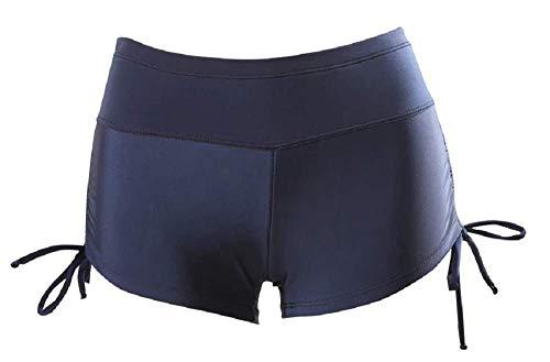 KIRALOVE Pantaloncini da Bagno Donna - Shorts - Coulotte - Ragazza - Elasticizzati - Mare - Piscina - Spiaggia - Estate - Colore Blu - Taglia XXXL