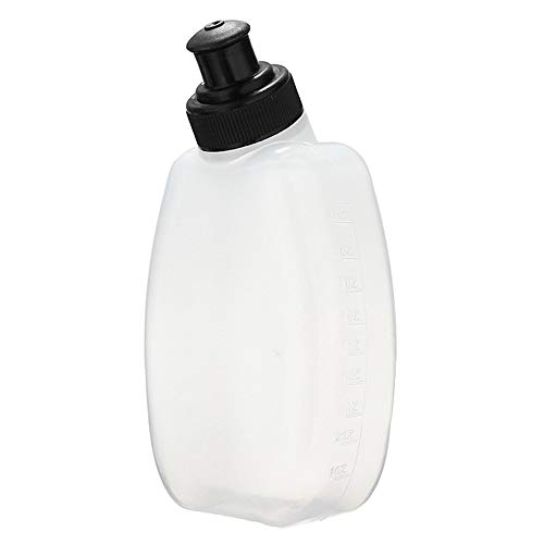 LIOHPK 1 Pc Portable 170/500Ml Transparent Outdoor Sports Water Bottle Soft For Mountain Bike Bicycle Travel,Bianco