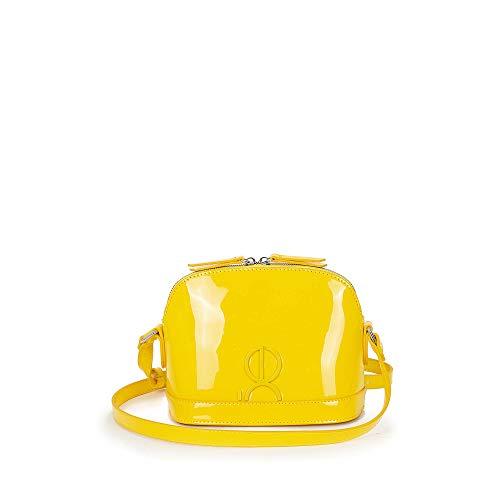 Cloe - Bolso Cross Body en Charol Color Amarillo para Mujer