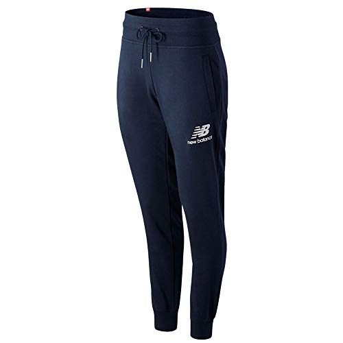 New Balance Pantalón de mujer Essentials azul cod WP03532ECL azul marino / blanco XL