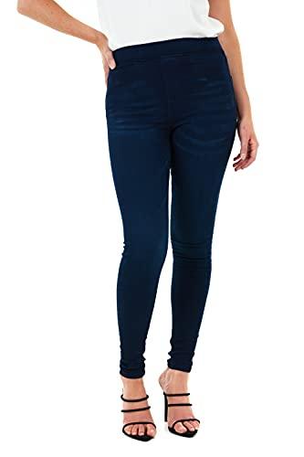 M17 Damen 5056242803485 Jeans Jeggings Skinny Fit Klassische lässige Baumwollhose Hose mit Taschen (12, Dark Wash Blue)