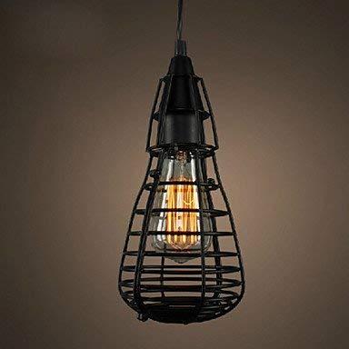 Moderne kroonluchter plafondlampen hanger 12 * 29 cm Amerikaanse industriële creatief herstel van de oude wijzen smeedijzeren kooi smeedijzeren kooi single hoofd druppellamp LED 3C Ce FCC Rohs voor woh