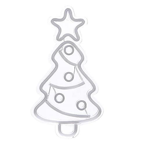 Sraeriot Luces de neón llevadas, lámpara de neón de la Pared de la luz de la luz de la Noche para la casa, Sala de niños, Bar, Fiesta de cumpleaños, árbol de Navidad de Boda