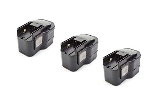vhbw 3x NiMH batterie 1500mAh (14.4V) pour outil électrique outil Powertools Tools Milwaukee LokTor P 14.4 TX, P 14.4 TXC, PDD 14.4 X, S 14.4 TX